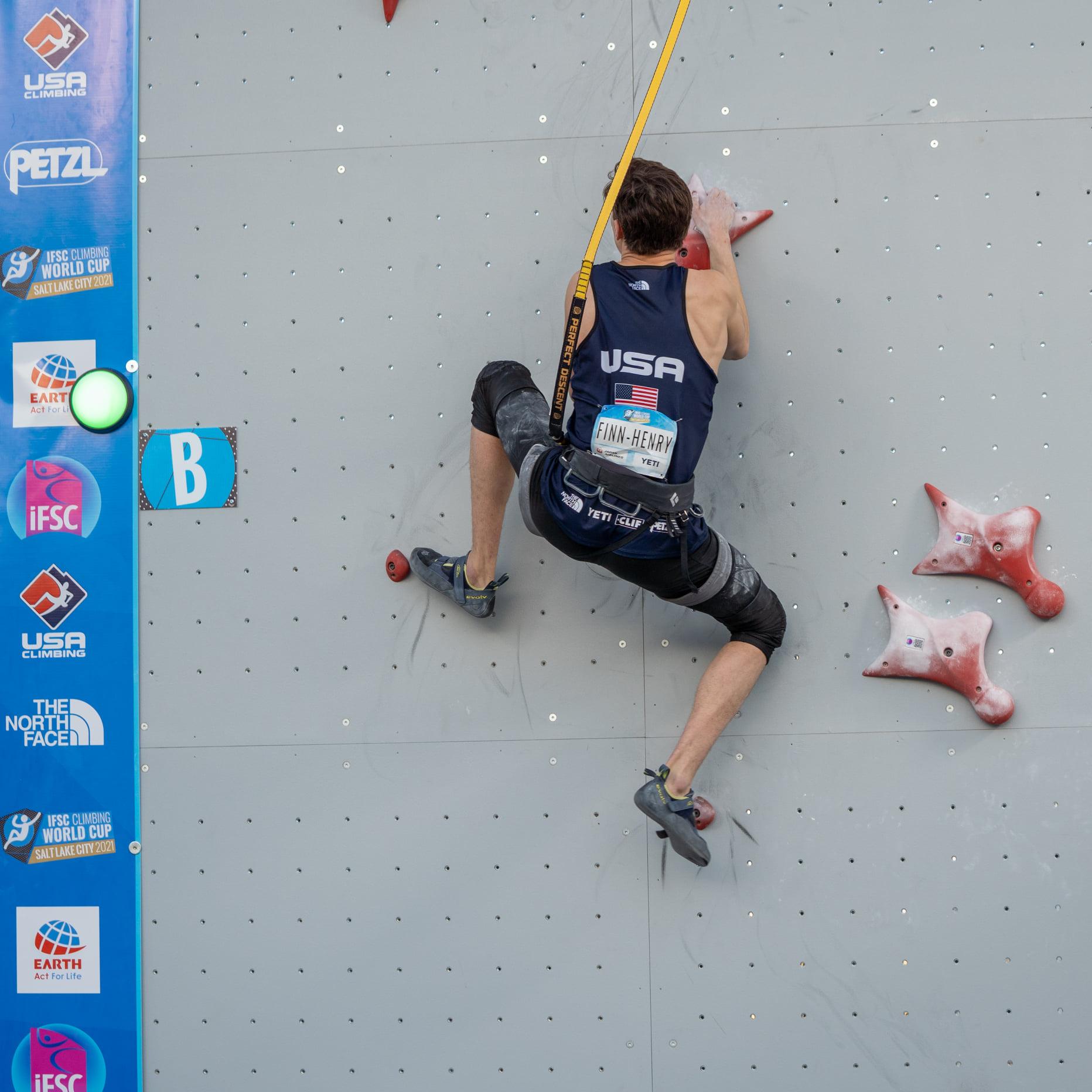 USA Climber Finn-Henry on wall